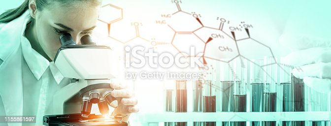 istock Science research and development concept. 1155861597