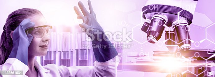 istock Science research and development concept. 1155861604