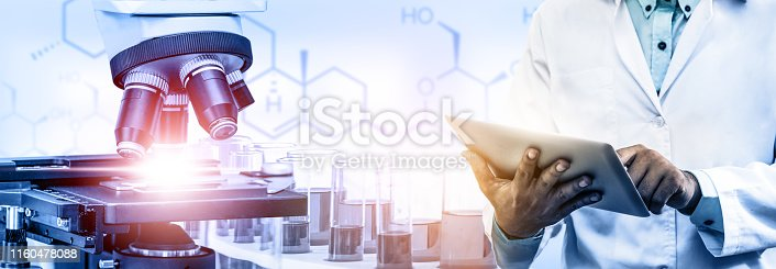 istock Science research and development concept. 1160478088