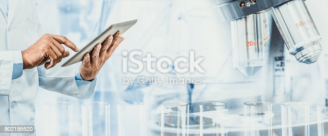 istock Science research and technology concept. 802195520
