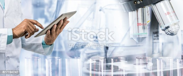 istock Science research and technology concept. 827194242