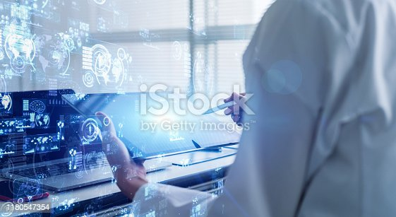 istock Science technology concept. Laboratory. Examination. Research. 1180547354