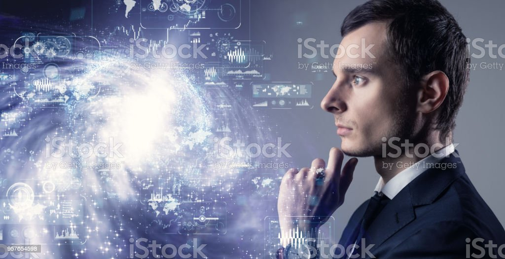 Science technology concept. stock photo