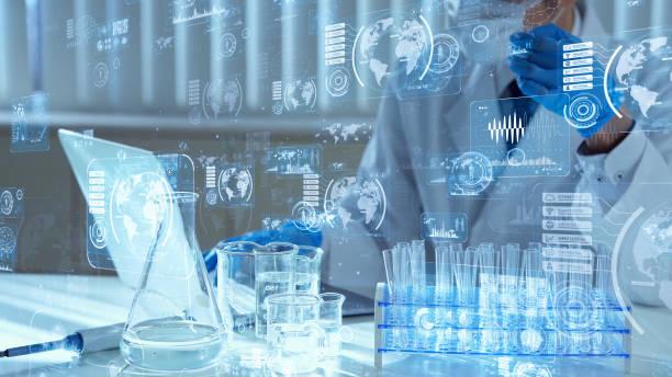 concepto de tecnología científica. investigación y desarrollo. descubrimiento de drogas. - química fotografías e imágenes de stock