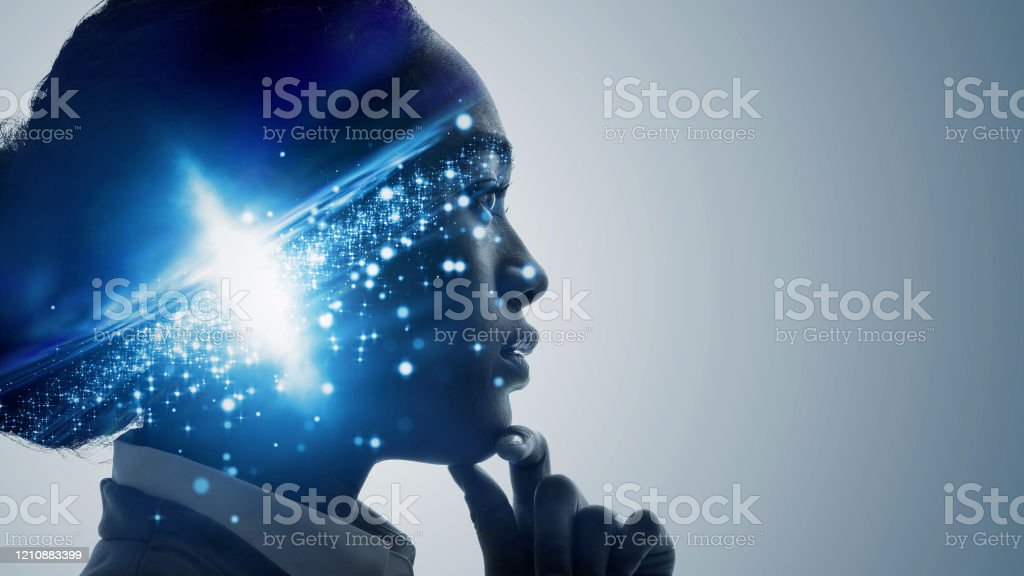 Science technology concept. Scientist. Education. - Royalty-free Adult Stock Photo