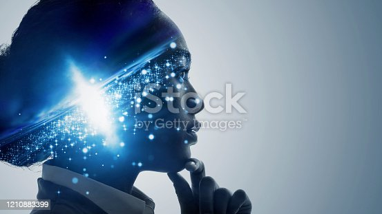 istock Science technology concept. Scientist. Education. 1210883399