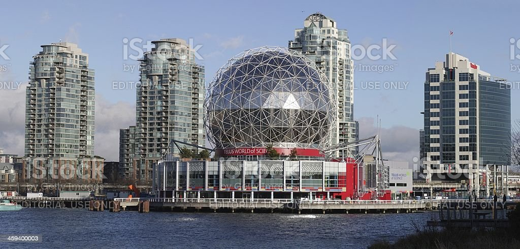 Science World at Vancouver's False Creek stock photo