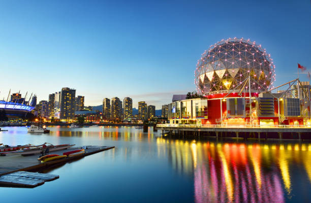 Science World in Vancouver, British Columbia, Canada. stock photo