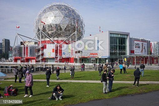 Vancouver, BC, Canada - Oct 12, 2019: Science World at Telus World of Science.