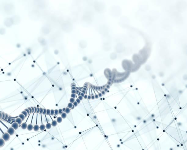 DNA、科学的な抽象的な背景 ストックフォト