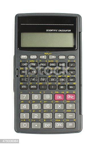 istock Scientific calculator isolated with clipping path 475006064