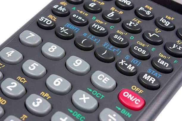 Scientific calculator stock photo