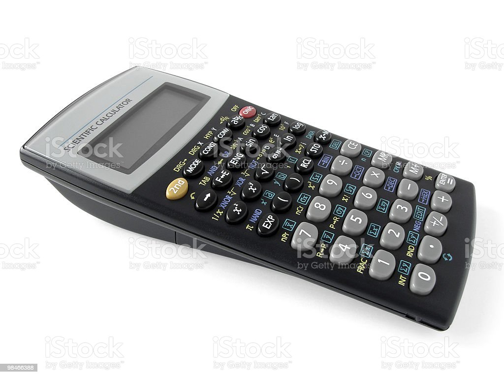 scientific calculator royalty-free stock photo