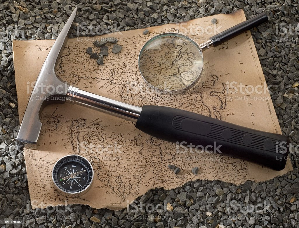 scientific expedition stock photo