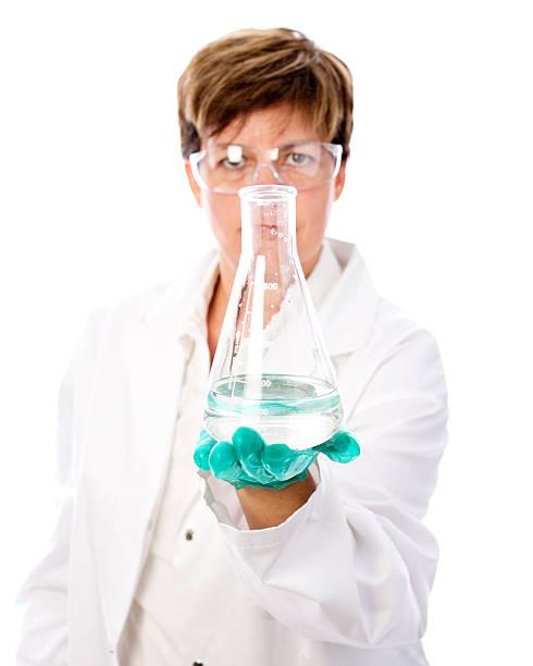 Scientific experiment stock photo