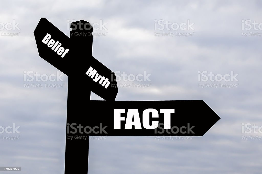 Scientific Fact Signpost. royalty-free stock photo