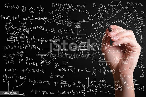istock Scientific formulas and calculations in physics and mathematics 846719540