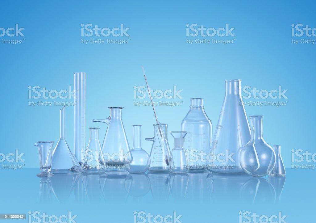 Scientific Glass Still Life stock photo