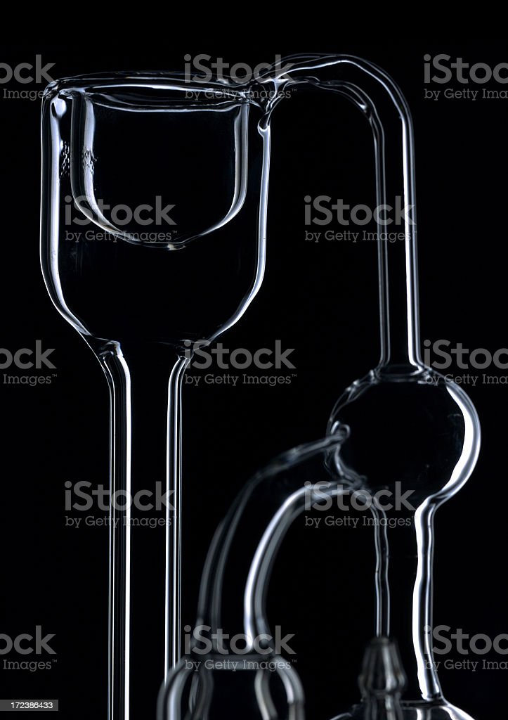 scientific glasswear royalty-free stock photo