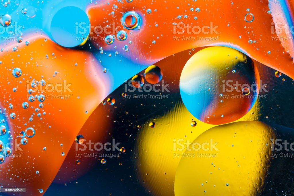 Scientific image of cell membrane. Macro up of liquid substances....