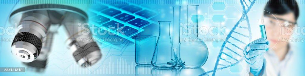 concepto de análisis de laboratorio científico foto de stock libre de derechos