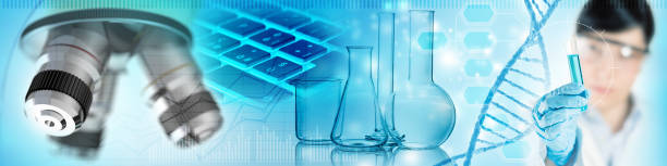 scientific lab analysis concept - foto stock
