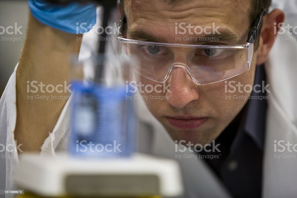 Scientific Research Chemist in Lab royalty-free stock photo