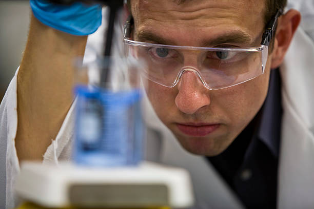 Scientific Research Chemist in Lab stock photo