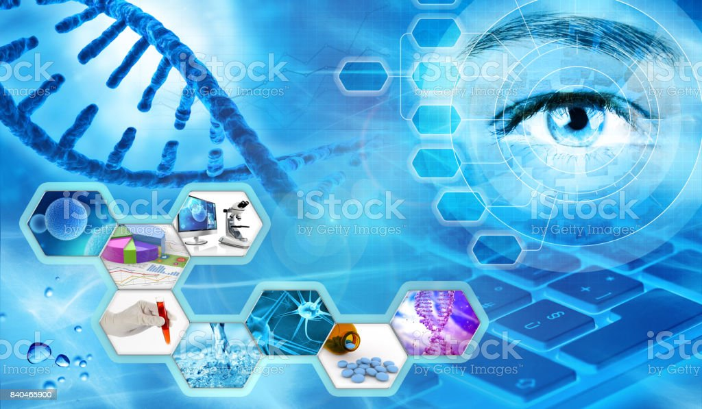 scientific research concept background stock photo