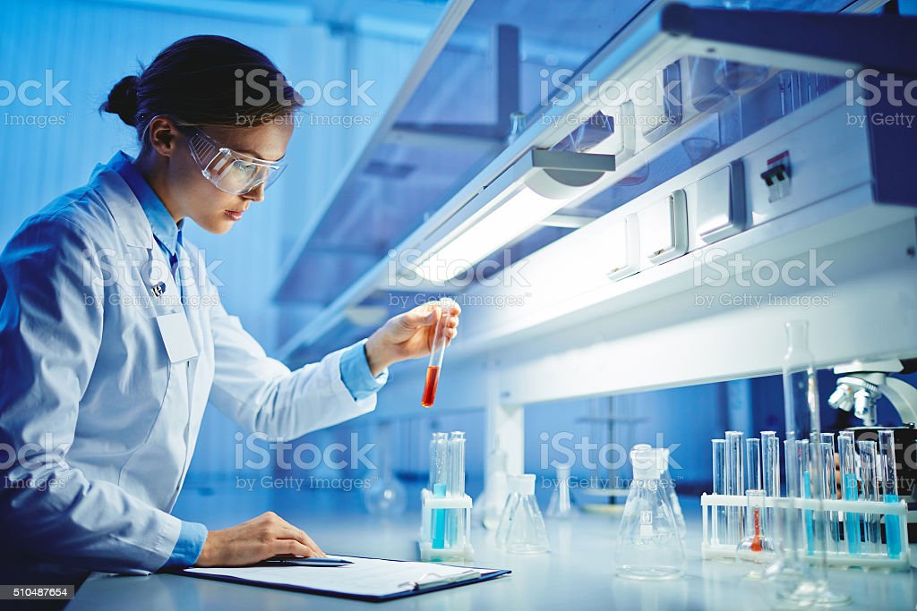 Scientific tests stock photo