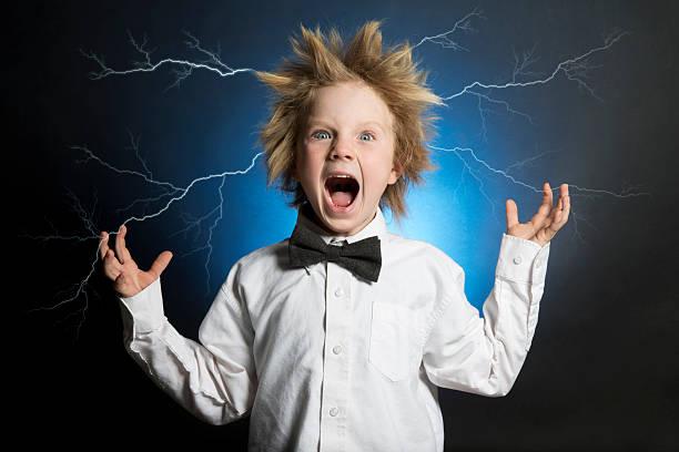 Scientist Electrified stock photo