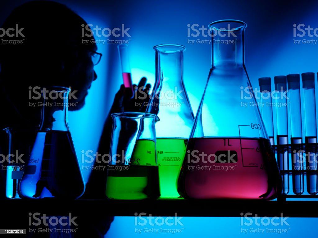 Scientist in a Science Laboratory royalty-free stock photo