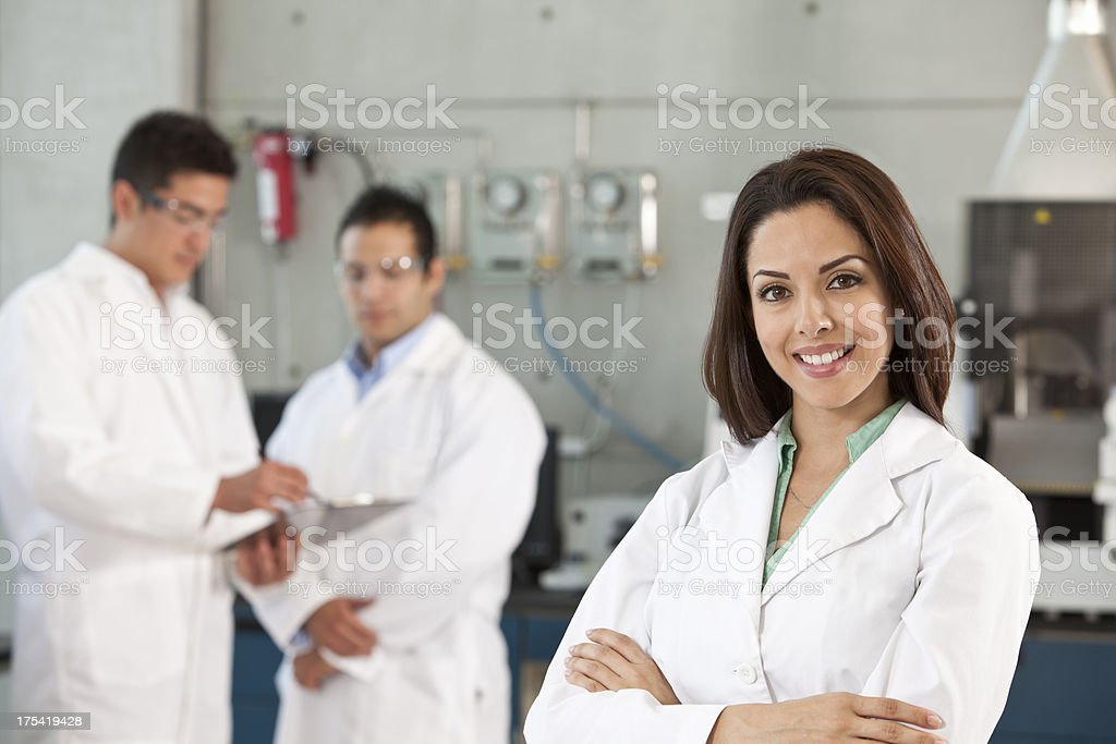 Scientist in Lab Environment royalty-free stock photo