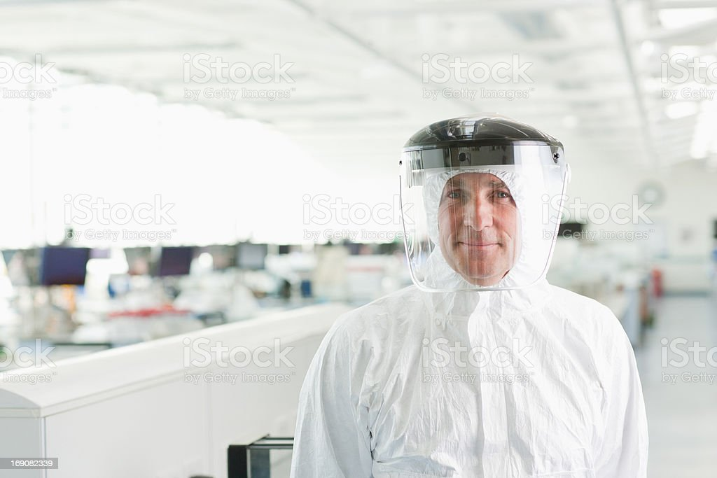 Scientist in lab stock photo