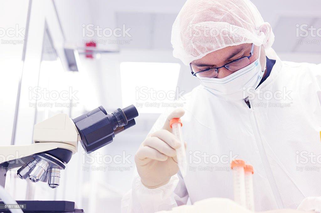 Scientist in laboratory stock photo