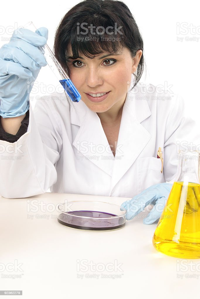 Scientist in research lab royalty-free stock photo