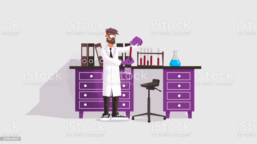 Scientist in the laboratory stock photo