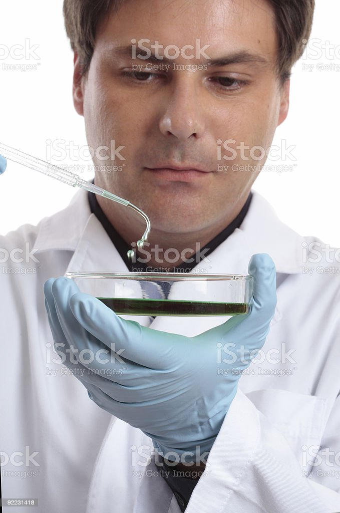 Scientist or researcher in laboratory royalty-free stock photo