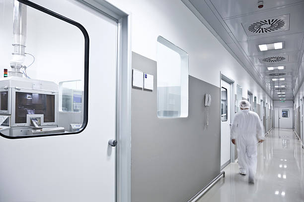 scientist - white suit stock photos and pictures