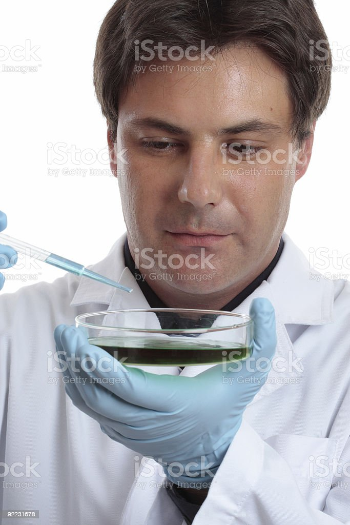 Scientist researcher experiment lab work royalty-free stock photo
