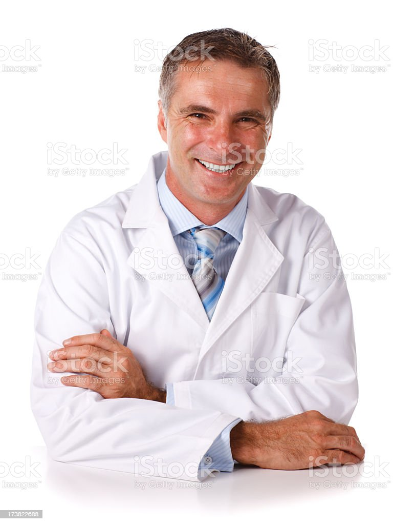 Scientist Sitting at Table royalty-free stock photo