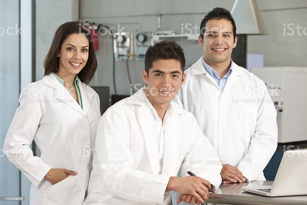 Scientist Team Working at Laboratory royalty-free stock photo