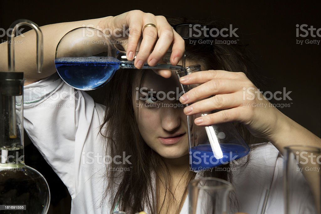 scientist that it mixes the stares royalty-free stock photo