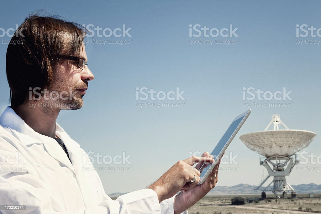 Scientist Using Tablet Computer stock photo