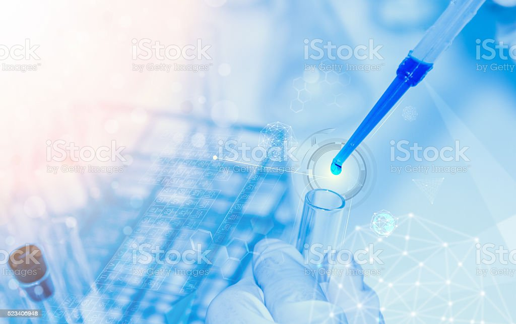 Scientist with laboratory background and concept. royalty-free stock photo