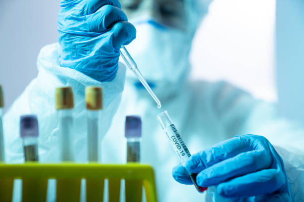 Scientist Woman Working In The CDC Laboratory For Covid-19 stock photo
