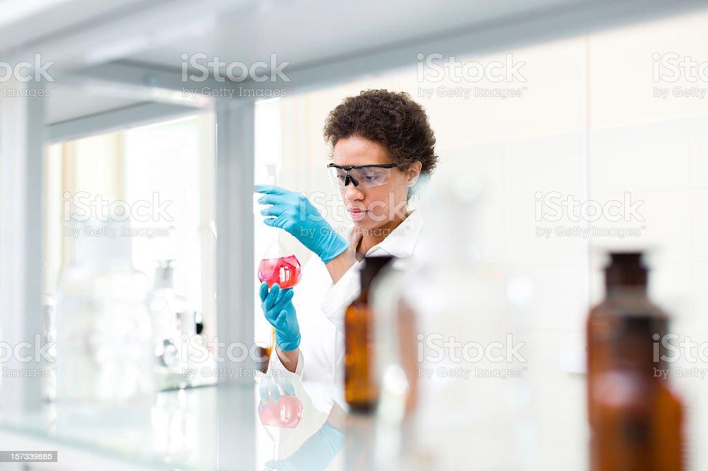 Scientist working at laboratory stock photo