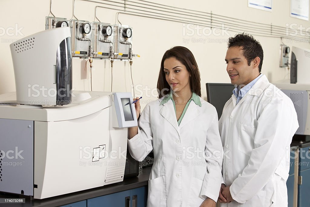 Scientist Working at the Laboratory royalty-free stock photo