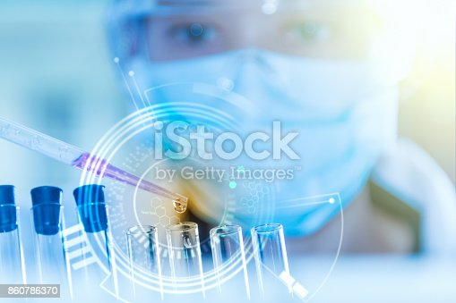 istock scientist working for analysis and science concept. 860786370