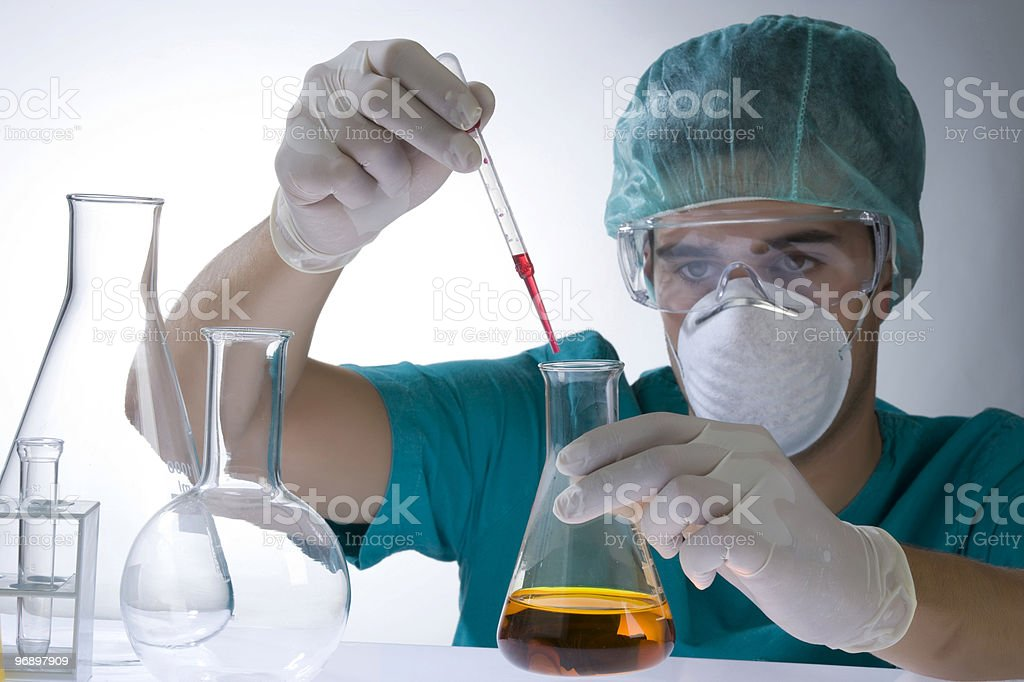 scientist working in a laboratory royalty-free stock photo